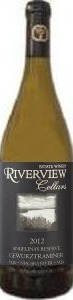 Riverview Angelina's Reserve Gewurztraminer 2012, VQA Niagara River, Niagara Peninsula Bottle