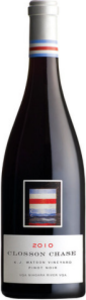 Closson Chase Pinot Noir K.J. Watson Vineyard 2011, Niagara River Bottle