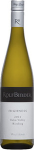 Rolf Binder Highness Riesling 2012, Eden Valley Bottle
