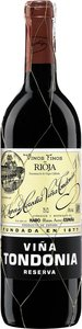 Vina Tondonia Red Reserva 2002, Rioja Alta Bottle
