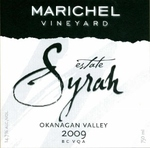 Marichel Syrah Estate 2009, BC VQA Okanagan Valley Bottle
