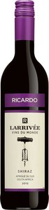 Ricardo Larrivée Vins Du Monde Shiraz 2012 Bottle