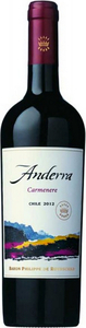Anderra Carmenere 2013, Central Valley Bottle