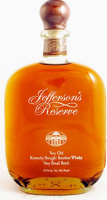 Jefferson's Reserve Very Old Very Small Batch Kentucky Straight Bourbon Whiskey Bottle