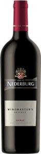 Nederburg Winemaster's Reserve Shiraz 2012 Bottle