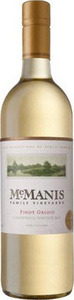Mcmanis Family Pinot Grigio 2012, California Bottle