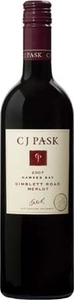 C.J. Pask Gimblett Road Merlot 2008, Gimblett Gravels, Hawkes Bay, North Island Bottle