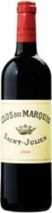 Clos Du Marquis 2003, Ac St Julien, 2nd Wine Of Château Léoville Las Cases Bottle