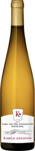 Karlo Estates Lake On The Mountain Riesling 2012, Prince Edward County Bottle