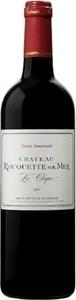Château Rouquette Sur Mer Cuvée Amarante 2012, Ac Côteaux Du Languedoc La Clape Bottle