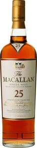 The Macallan Sherry Oak 25 Years Old Highland Single Malt Scotch Whisky, Speyside Bottle