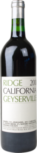 Ridge Geyserville 2011, Sonoma County Bottle