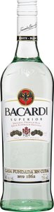 Bacardi Superior Rum, Puerto Rico Bottle