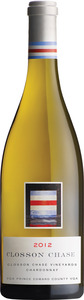 Closson Chase Chardonnay 2012, VQA Prince Edward County, Closson Chase Vineyard, Unfiltered Bottle