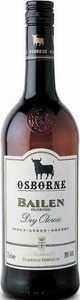 Osborne Bailen Dry Oloroso Sherry, Do Jerez Xérèz Sherry Bottle