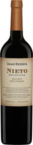 Nieto Senetiner Gran Reserva Malbec/Petit Verdot 2010, Mendoza Bottle