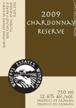 Waupoos Estates Chardonnay Reserve 2009, Prince Edward County Bottle