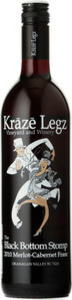 Kraze Legz Vineyard And Winery Black Bottom Stomp Merlot / Cabernet Franc 2011, VQA  Okanagan Valley Bottle