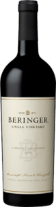 Beringer Bancroft Ranch Single Vineyard Cabernet Sauvignon 2007, Bancroft Ranch Vineyard, Howell Mountain, Napa Valley Bottle