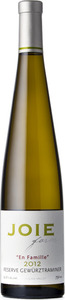"Joie Farm ""En Famille"" Reserve Gewurztraminer 2012, Okanagan Valley Bottle"