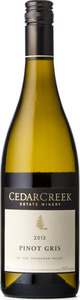 CedarCreek Pinot Gris 2013, BC VQA Okanagan Valley Bottle