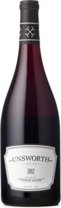Unsworth Vineyards Pinot Noir 2012, Cowichan Valley, Vancouver Island Bottle