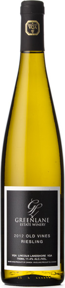 Easter Winer - Greenlane 2012 Old Vines Riesling