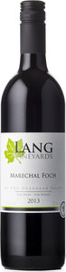 Lang Marechal Foch 2013, BC VQA Okanagan Valley Bottle