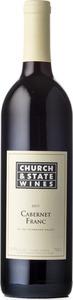 Church & State Cabernet Franc 2011, BC VQA Okanagan Valley Bottle