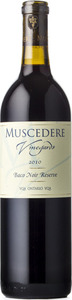 Muscedere Vineyards Baco Noir Reserve 2010, VQA Lake Erie North Shore Bottle
