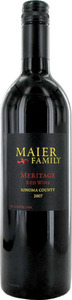 Maier Family Meritage 2007, Sonoma County Bottle
