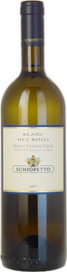 Schiopetto Blanc Des Rosis 2011, Igt Venezia Giulia Bottle