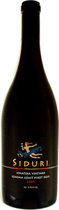 Siduri Sonatera Vineyard Pinot Noir 2012, Sonoma Coast Bottle