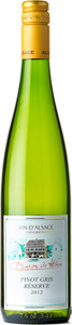 Baron De Hoen Pinot Gris Reserve 2012 Bottle