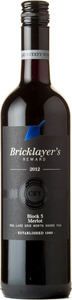 Bricklayer's Reward Block 3 Merlot 2012, VQA Lake Erie North Shore Bottle