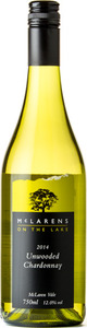 Mclarens On The Lake Unwooded Chardonnay 2014 Bottle
