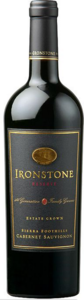 Ironstone Reserve Estate Grown Cabernet Sauvignon 2012, Sierra Foothills Bottle