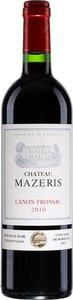 Château Mazeris 2010, Ac Canon Fronsac Bottle