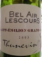 Bel Air Lescours 2003 Bottle