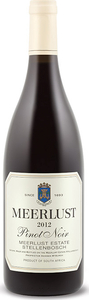 Meerlust Pinot Noir 2012 Bottle