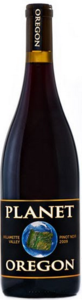 Planet Oregon Pinot Noir 2012, Willamette Valley Bottle