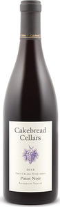 Cakebread Two Creeks Vineyards Pinot Noir 2012, Anderson Valley Bottle
