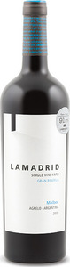 Lamadrid Single Vineyard Gran Reserva Malbec 2009, Agrelo Bottle