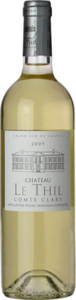 Château Le Thil Comte Clary Blanc 2010, Ac Pessac Léognan Bottle