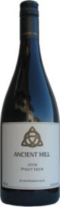 Ancient Hill Pinot Noir 2010, BC VQA Okanagan Valley Bottle