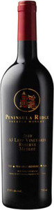 Peninsula Ridge A.J. Lepp Vineyards Reserve Merlot 2012, VQA Niagara Lakeshore Bottle