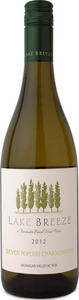 Lake Breeze 7 Poplars Chardonnay 2012, BC VQA Okanagan Valley Bottle