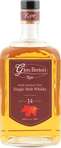 Glen Breton 14 Year Old Single Malt Whisky, Nova Scotia Bottle