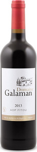 Domaine Galaman Fitou 2013, Ap Bottle