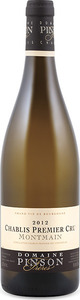 Domaine Pinson Frères Montmain Chablis 1er Cru 2012 Bottle